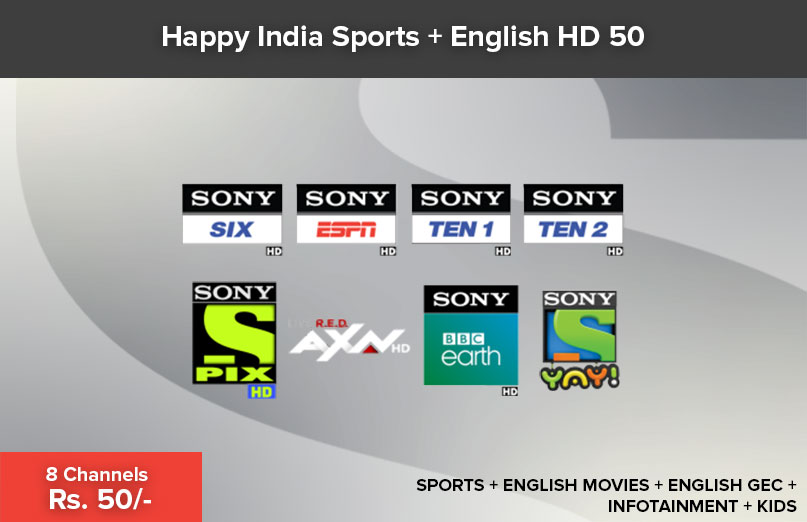 Happy India Sports + English HD 50